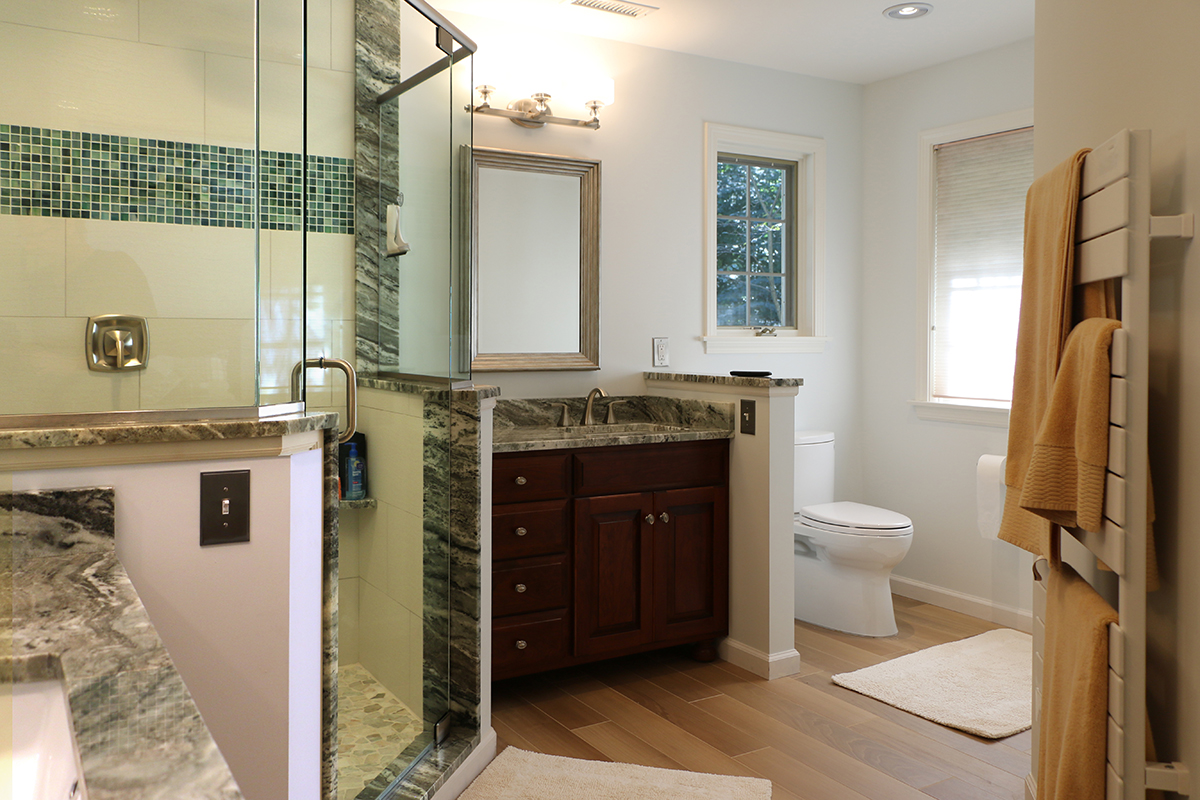 Luxurious Large Bathroom Remodel with Custom Shower - Michaud ...